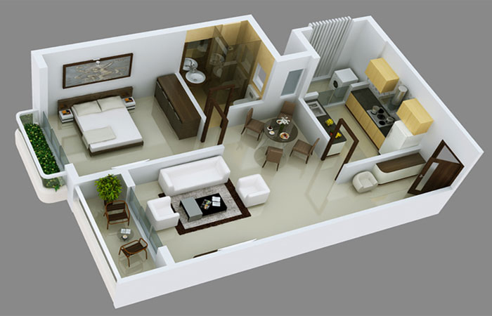 1 bhk the most sought after inventory in mumbai real for Interior designs for flats